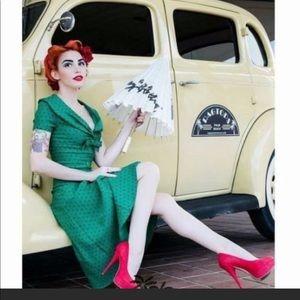Tatyana Bettie Paige flared sailor dress small